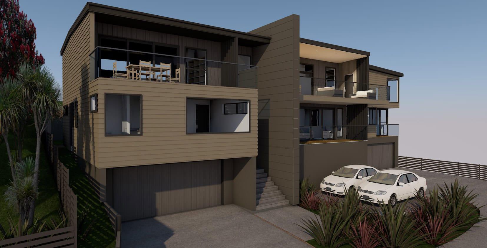 Matakiakia Duplex - Whangaparoa, Auckland - Side