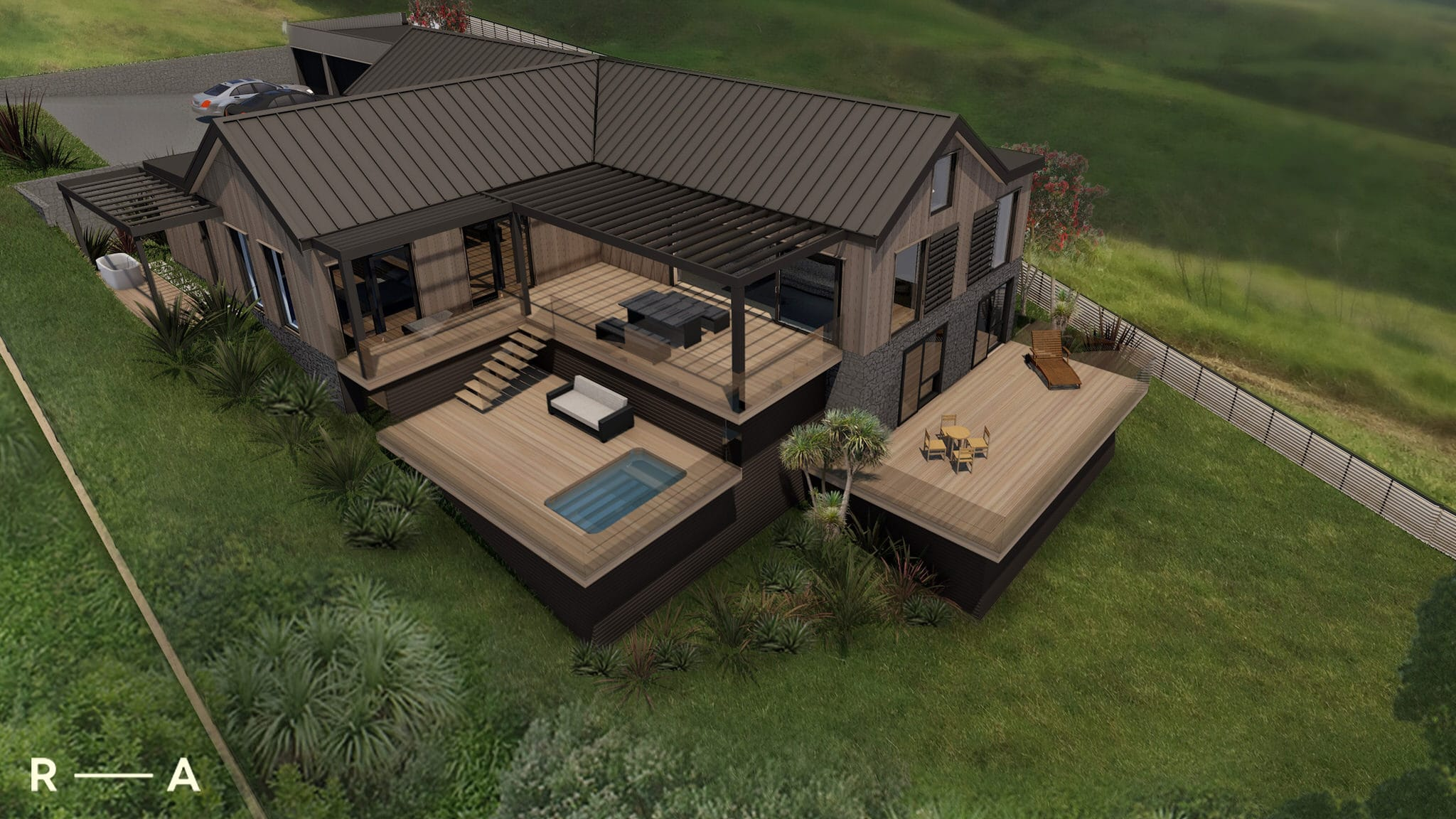 Passive House - Exterior View Render