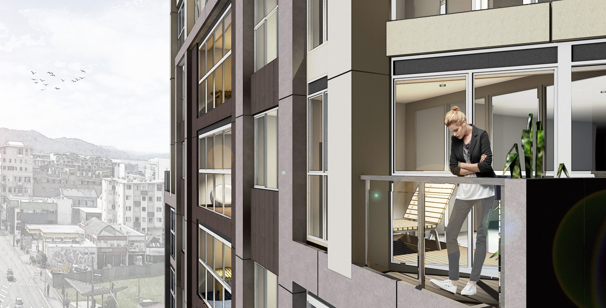 Mt Victoria Apartments - Balcony Exterior