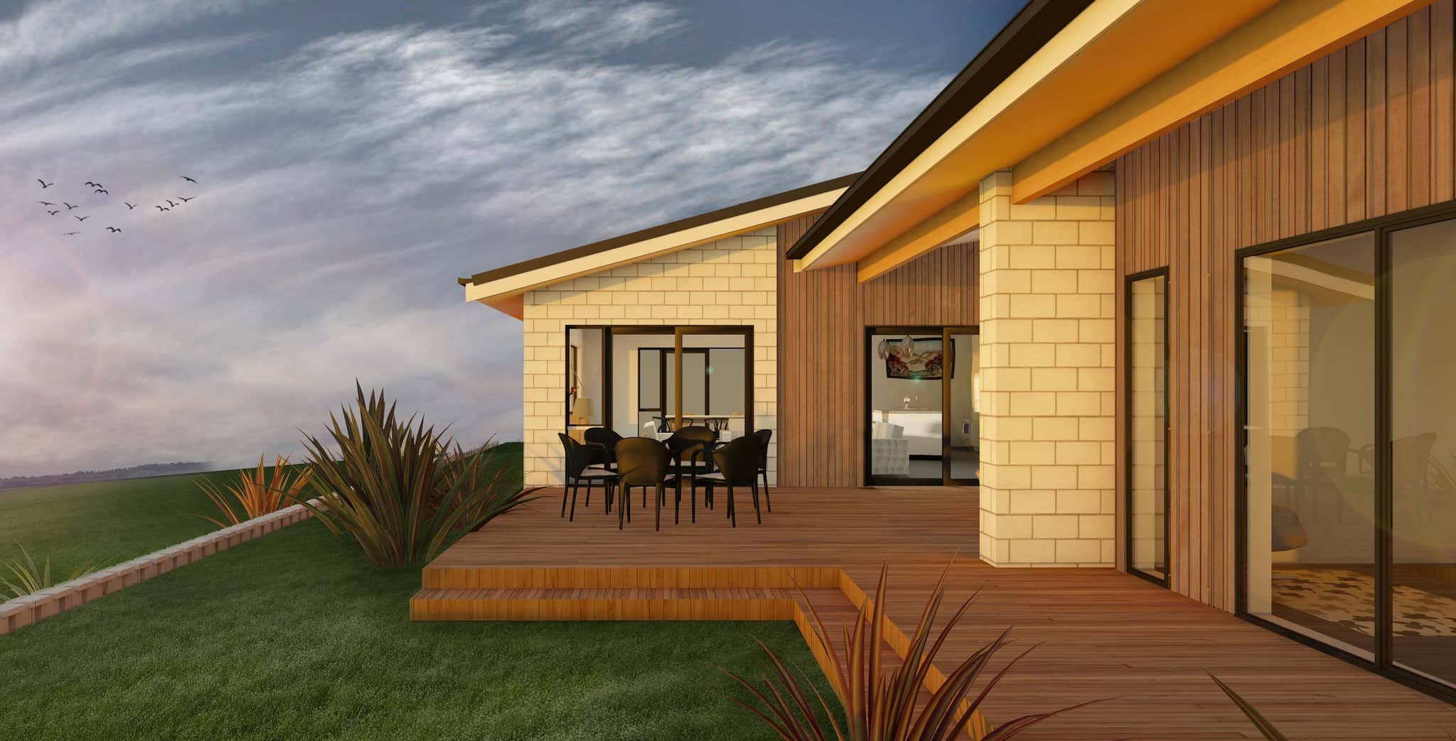 Waikato House - Exterior Deck View 1
