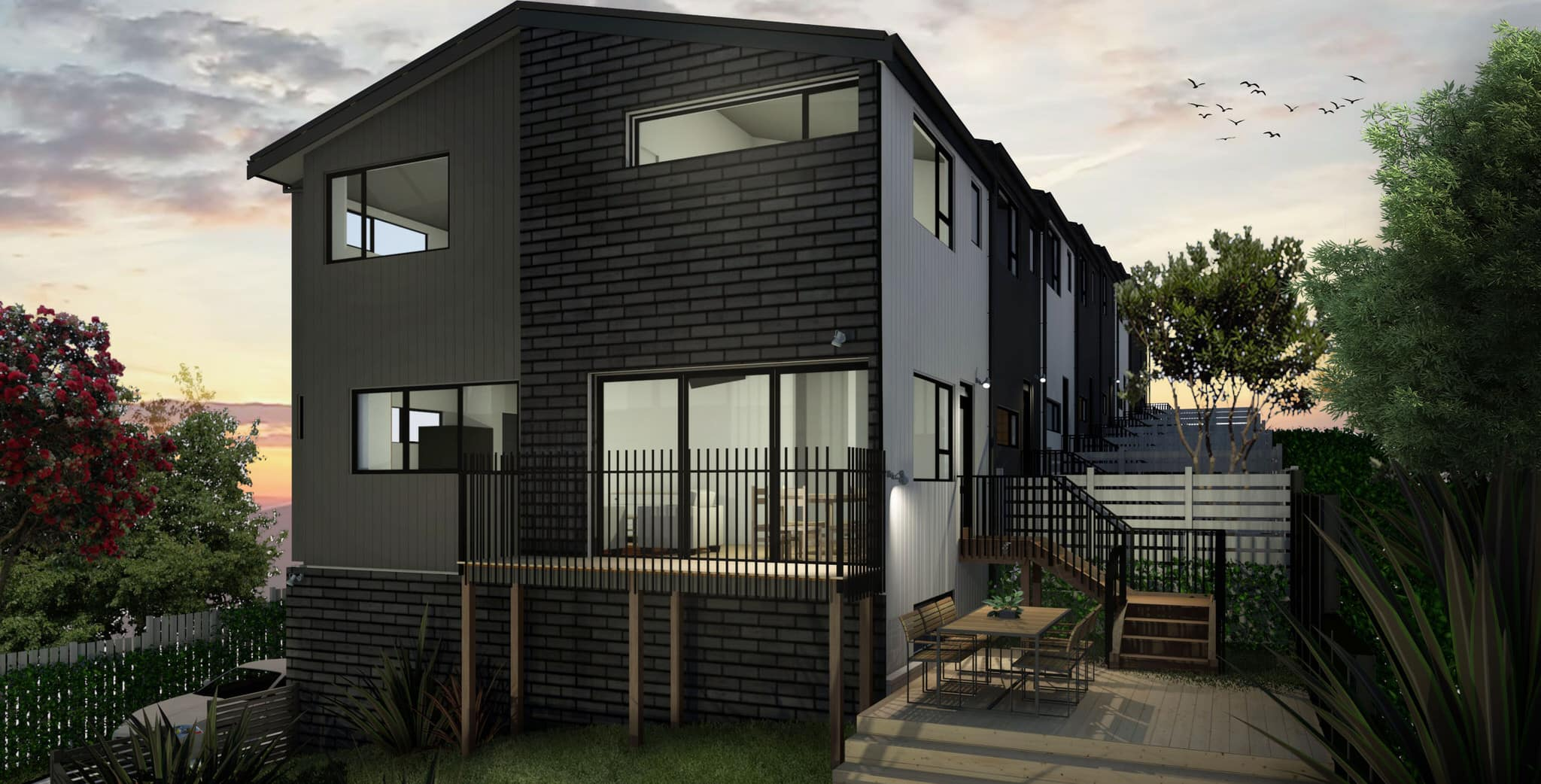 Glendowie Terraced Housing, Auckland - front view 2