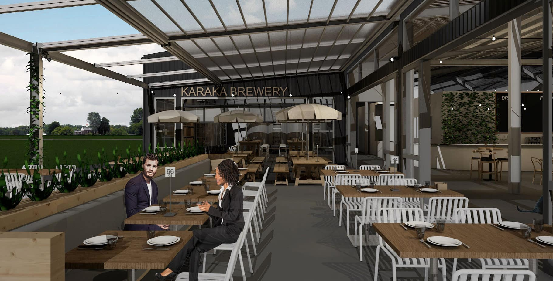 Karaka Brewsite - Outdoor Seating Area