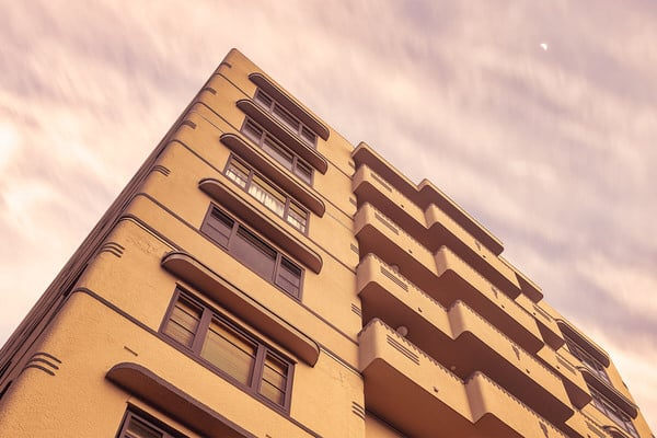 Westhaven Apartments in Wellington, Dawn Sky Preview - Respond Architects