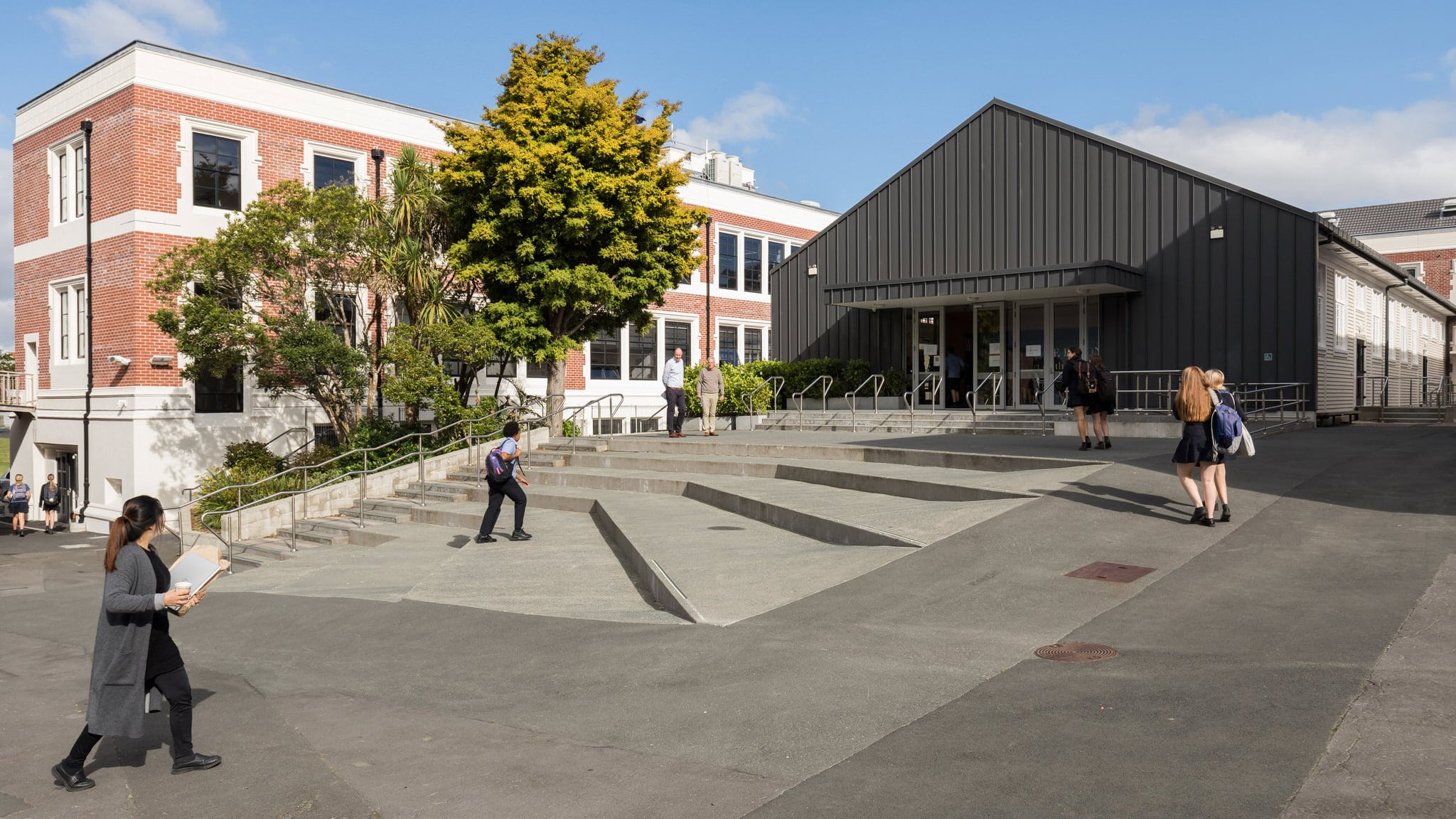Takapuna Grammar School - Main Block and Hall